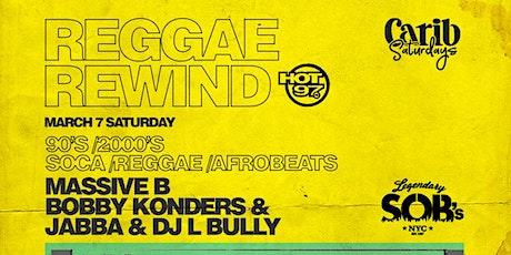 Reggae Rewind 90's & 2000's @ SOB's tickets