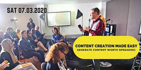 Content Creation Made Easy + Re-purposing for Social Media Distribution tickets