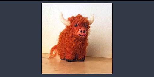 Needle Felting Workshop: Highland Cow