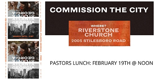 COMMISION THE CITY PASTORS LUNCH