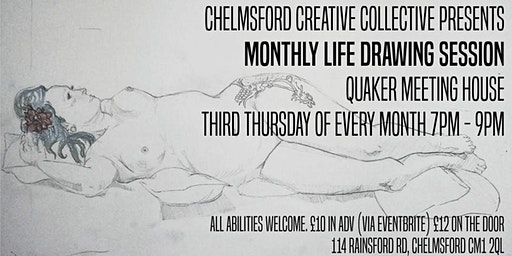 Monthly Life Drawing Sessions