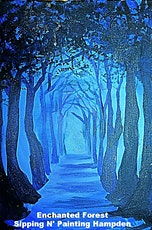 Paint Wine Denver Enchanted Forest Sun March 1st 5:30pm $30 tickets