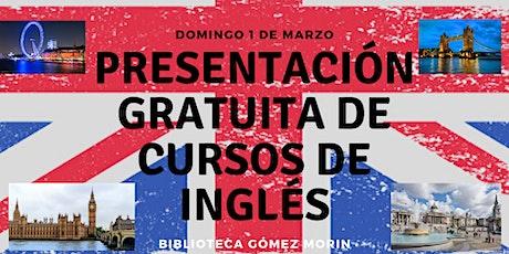 Presentación GRATIS de Curso de Inglés boletos