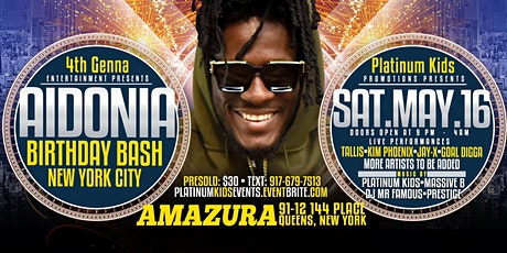 AIDONIA BDAY PARTY (NEW YORK EDITION) tickets