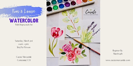 *SOLD-OUT* Fun & Loose Watercolor Workshop tickets