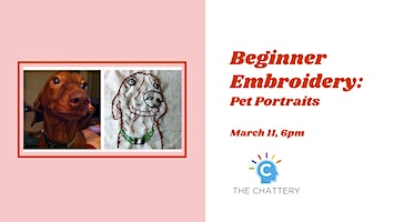 Beginner Embroidery: Pet Portraits
