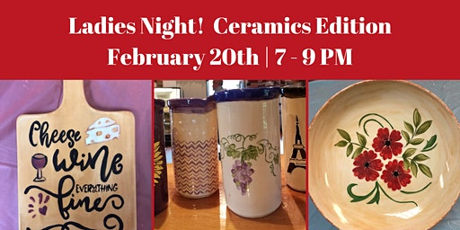 Ladies Night:  Ceramic Pasta Bowl, Wine Chiller or