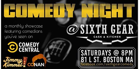 Comedy Night at Sixth Gear tickets
