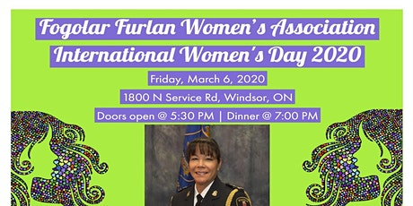 Fogolar Furlan Women's Association International Women's Day 2020 tickets