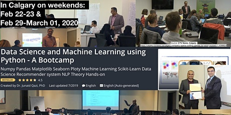 Data Science & Machine Learning with Python - A Bootcamp tickets