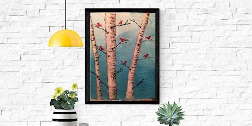 Coffee & Canvas: Red Bird Birch