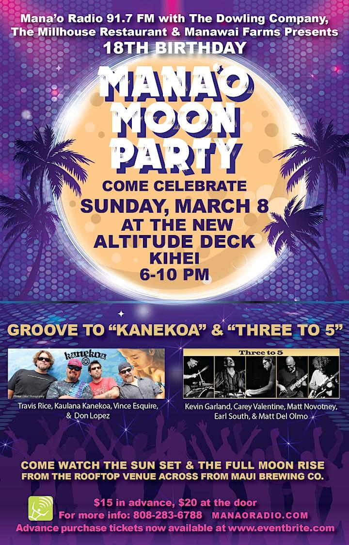 Mana'o Radio Presents: Mana'o Moon Party! image