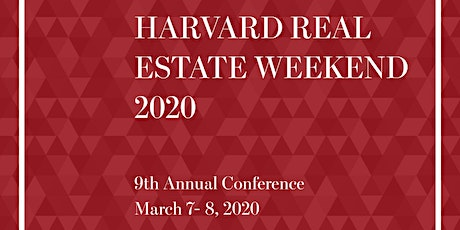 Harvard Real Estate Weekend 2020 tickets