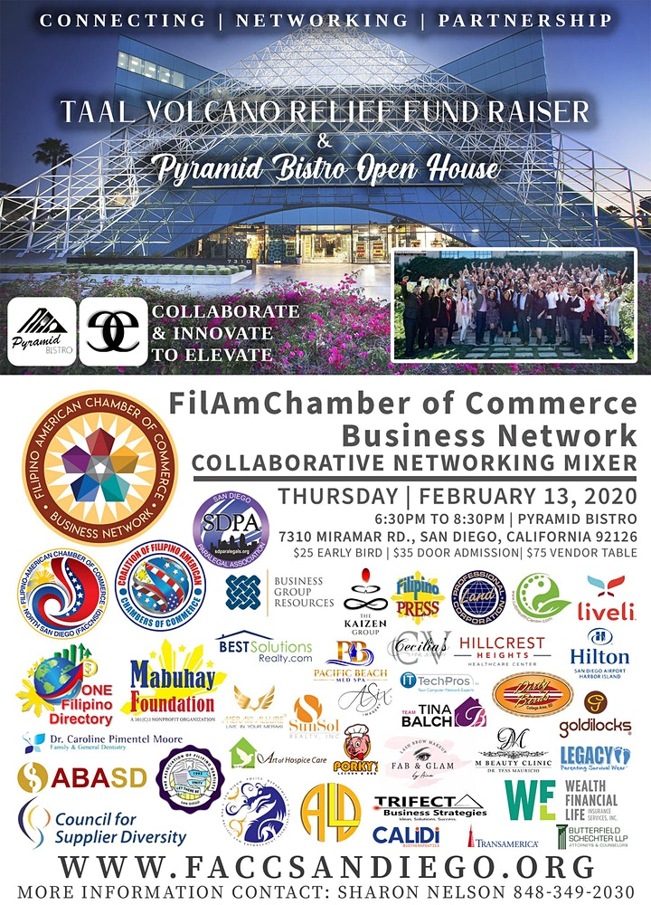 FilAmChamber of Commerce  Networking Mixer / Taal Volcano Relief Fundraiser image
