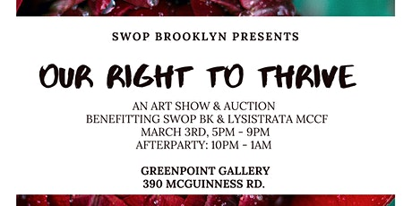 Our Right To Thrive: Pop-Up Art Show & Auction tickets