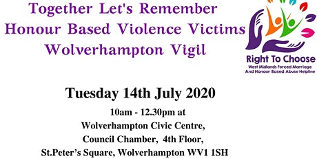 Together Lets Remember Honour Based Violence Victims tickets