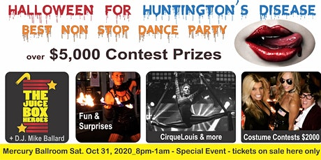 Halloween for Huntington's Disease - Mercury Ballroom Dance Party Oct 31,2020 tickets