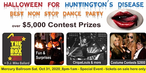 Halloween for Huntington's Disease - Mercury Ballroom Dance Party Oct 31,2020