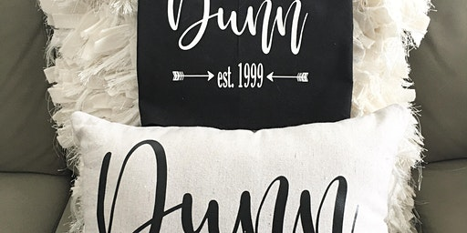 Personalized Pillow and Towel Set {Silhouette Die Cut Basics}