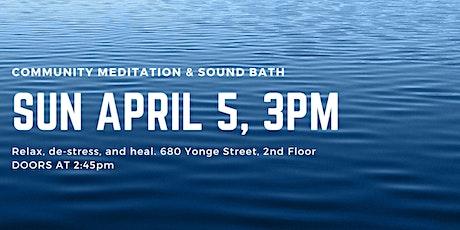 Sound Bath & Guided Meditation tickets