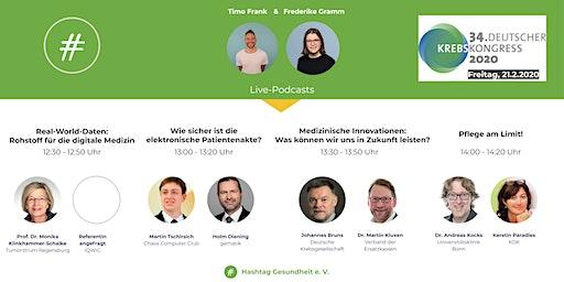 Live-Podcasts mit #Gesundheit auf dem Deutschen Krebskongress 2020