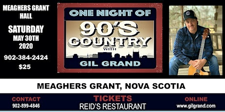 One Night of 90's Country - Meaghers Grant Hall tickets