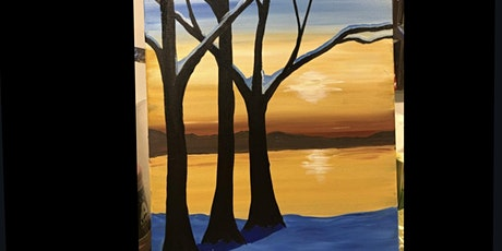 """ Calm lake"" paint Night Banff tickets"