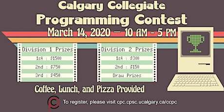 Calgary Collegiate Programming Contest 2020 tickets