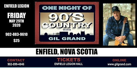 One Night of 90's Country - Enfield Legion Nova Scotia tickets