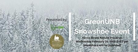 GreenUNB Snowshoe Event