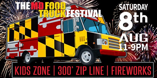 MD Food Truck Festival at Jefferson Patterson Park 2020 with FIREWORKS