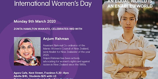 Zonta with Anjum Rahman celebrate International Women's Day