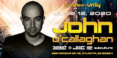 JOHN O'CALLAGHAN at District Atlanta | Friday June 12th 2020 tickets