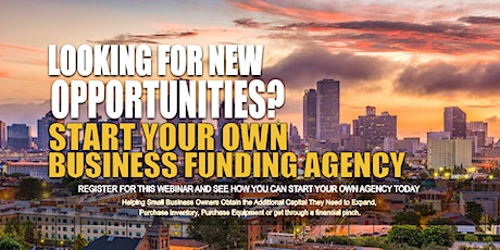 Own Business Funding Agency New Orleans LA tickets