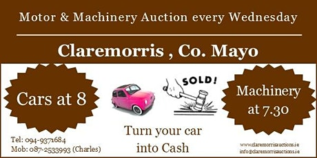 Claremorris Motor & Machinery Auction tickets