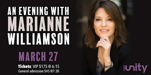 An Evening with Marianne Williamson in St. Petersburg at First Unity