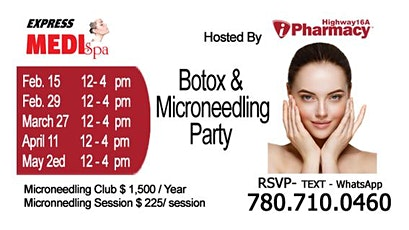 Botox and Microneedling Party 11 April 2020 tickets