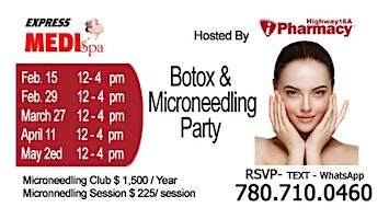 Botox and Microneedling Party 11 April 2020