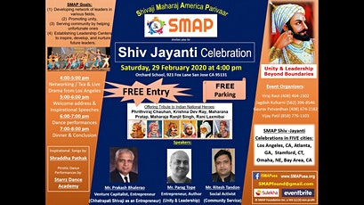 SMAP Shiv Jayanti Celebrations tickets