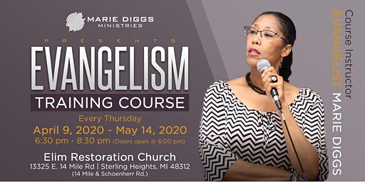 Marie Diggs Ministries Evangelism Training Course: $65 for 6-week course