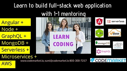 Learn to develop Full Stack Web App with Angular, Node, GraphQL, MongoDB tickets