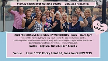 Progressive Mediumship Workshop with Val Hood Sydney 2020 26 Sep
