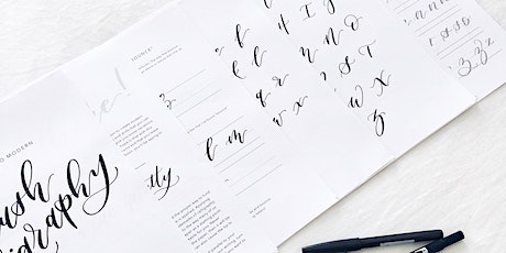 "Modern Brush Calligraphy 201: Upper Case Letters + Creating ""Bounce"" tickets"