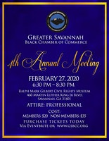 Greater Savannah Black Chamber of Commerce 4th Annual Meeting