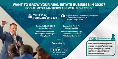 Social Media Masterclass with BJ Murphy, presented by Hudson Law Firm tickets