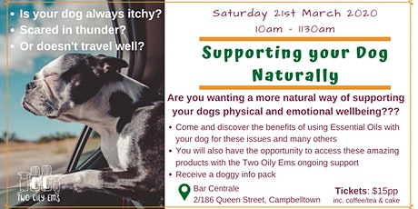 Supporting your Dog Naturally tickets