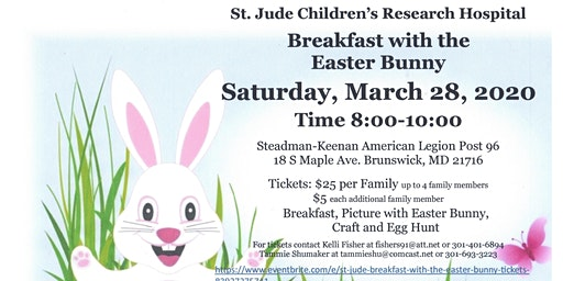 ST Jude Breakfast with the Easter Bunny