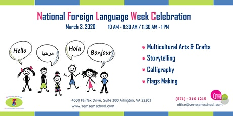 National Foreign Language Week Celebration tickets