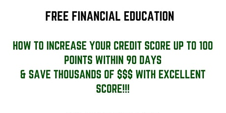 How To Get The Perfect High Credit Score and buy anything you want! tickets