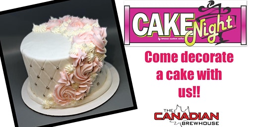 CakeNight - Downtown Edmonton - Quilted Rosette Cake